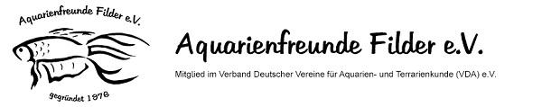 Aquarienfreunde Filder e.V. Logo mit Schriftzug